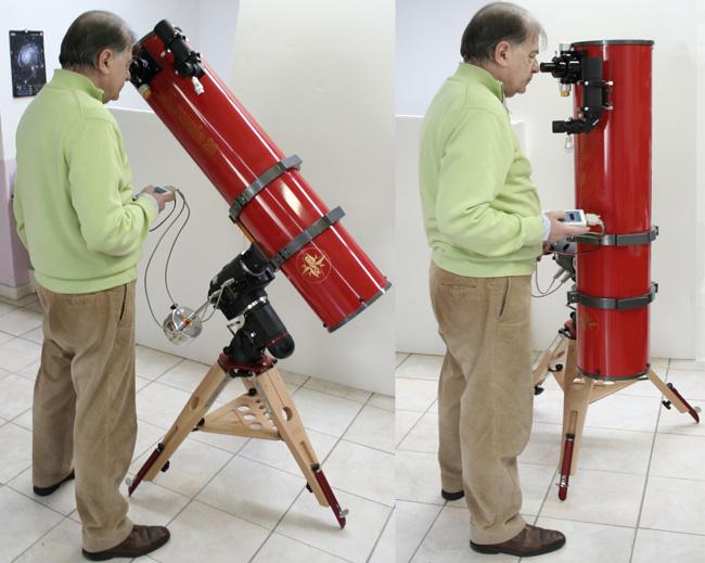 EQ6ProやAZ-EQ6GoToに大口径望遠鏡を搭載した際の眼視時の接眼ポイント