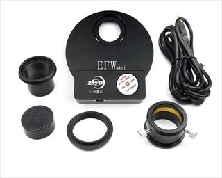 ZWO Mini電動式フィルターホイール 薄型USB, 5×1.25インチ,5×31mm用のパッケージ内容