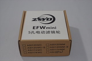 ZWO Mini電動式フィルターホイール 薄型USB, 5×1.25インチ,5×31mm用のパッケージ