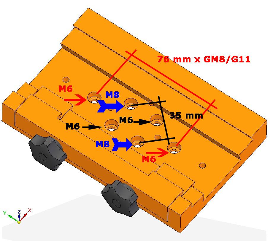 GEOPTIK デュアルアリミゾ金具 ロングの寸法